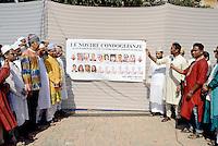 Roma, 6 Luglio 2016<br /> Condoglianze della comunità bengalese per le vittime della strage di Dacca<br /> Condolences of the Bengali community to the victims of the massacre Dhaka<br /> Migranti Musulmani a Tor Pignattara, quartiere periferico e multietnico di Roma, per la preghiera di Eid al-Fitr che segna la fine del mese di digiuno del Ramadan.<br /> Muslims Migrant  in Torpignattara, a multiethnic suburb of Rome, for the prayer of Eid al-Fitr which marks the end of the Ramadan fasting month.