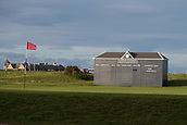 2nd October 2017, The Old Course, St Andrews, Scotland; Alfred Dunhill Links Championship golf practice round; 17th green (road hole) and scoreboard on the Old Course, St Andrews, ahead of the Alfred Dunhill Links Championship