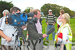 Bride Brassil secretary of the Fenit Island Access Committee being interviewed by TnaG on Sunday.