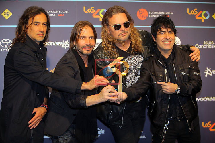 Los 40 MUSIC Awards 2016 - Photocall.<br /> Mana.