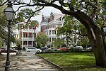 White Point Gardens in The Battery district,  Charleston, SC