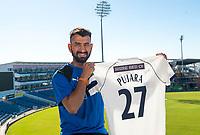 Picture by Allan McKenzie/SWpix.com - 05/04/2018 - Cricket - Cheteshwar Pujara - Headingley Cricket Ground, Leeds, England - Cheteshwar Pujara unveils his shirt number at Headingley Cricket Ground.