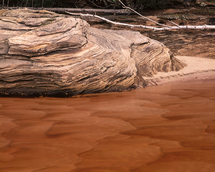 The eroded shore of Lake Superior at Miners Beach; Pictured Rocks National Lakeshore, MI
