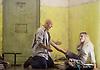 Lady Macbeth of Mtsensk<br /> by Dmitri Shostakovich <br /> English National Opera, London Coliseum, London, Great Britain <br /> rehearsal <br /> 24th September 2015 <br /> <br /> <br /> John Daszak as Sergei <br /> <br /> <br /> <br /> <br /> Rosie Aldridge as feamle convict <br /> <br /> <br /> <br /> <br /> Photograph by Elliott Franks <br /> <br /> Image licensed to Elliott Franks Photography Services