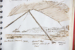 Burnett Bay, British Columbia, ink on Paper, Journal Art 2005, August 19, 2005,