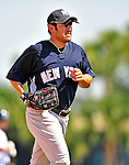11 March 2009: New York Yankees' outfielder Johnny Damon trots back to the dugout during a Spring Training game against the Detroit Tigers at Joker Marchant Stadium in Lakeland, Florida. The Tigers defeated the Yankees 7-4 in the Grapefruit League matchup. Mandatory Photo Credit: Ed Wolfstein Photo