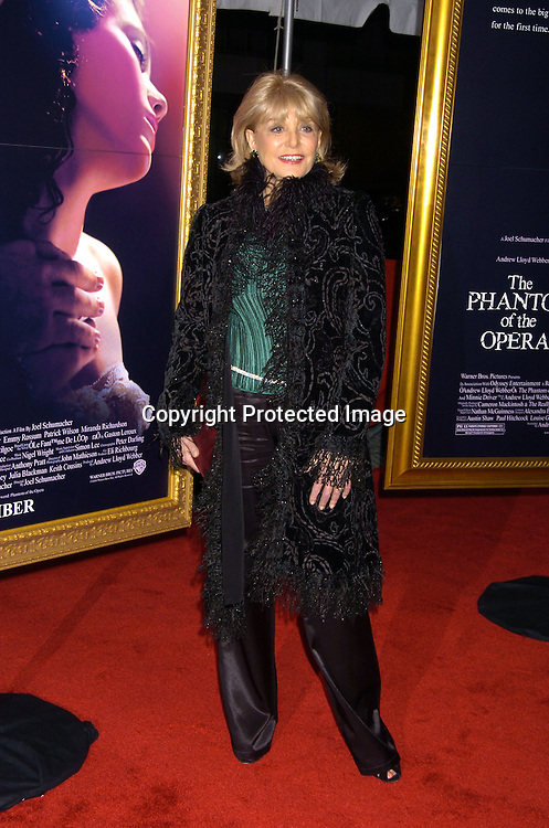 """Barbara Walters ..at The New York Premiere of """"Phantom of the Opera"""" on ..December 12, 2004 at the Ziegfeld Theatre. ..Photo by Robin Platzer, Twin Images"""