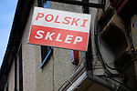 Polski Sklep Polish shop sign, Bury St Edmunds, Suffolk, England