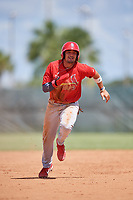 GCL Cardinals first baseman Zack Gahagan (38) runs the bases during a game against the GCL Mets on August 6, 2018 at Roger Dean Chevrolet Stadium in Jupiter, Florida.  GCL Cardinals defeated GCL Mets 6-3.  (Mike Janes/Four Seam Images)
