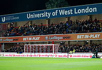 Leeds United FC have a good travelling support in attendance during the Sky Bet Championship match between Brentford and Leeds United at Griffin Park, London, England on 4 November 2017. Photo by Carlton Myrie.