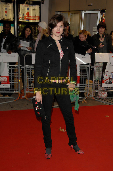 JASMINE GUINNESS.Amazing Journey: The Story Of The Who - DVD premiere.Odeon Kensington,  London,  England.5th November 2007.full length black jacket zips skinny jeans red shoes.CAP/PL.©Phil Loftus/Capital Pictures