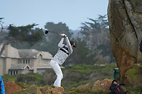 Viktor Hovland (NOR) at Monterey Peninsula during the second round of the AT&T Pro-Am, Pebble Beach, Monterey, California, USA. 06/02/2020<br /> Picture: Golffile | Phil Inglis<br /> <br /> <br /> All photo usage must carry mandatory copyright credit (© Golffile | Phil Inglis)