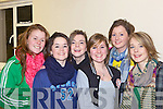 Listowel ladies Zoe Hughes, Julieann Fitzpatrick, Lauren Kelliher, Aishling Grines, Maggie Mae Pierce and Brid Og Griffin at opening night of 'Cinderella' last Tuesday in Scoil Realta, Listowel.