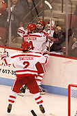 Shane Switzer (BU - 2), Bobo Carpenter (BU - 14), Clayton Keller (BU - 19) - The Boston University Terriers defeated the visiting Yale University Bulldogs 5-2 on Tuesday, December 13, 2016, at the Agganis Arena in Boston, Massachusetts.