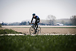 Team Sky recon the cobbles before Paris-Roubaix 2019. 11th April 2019<br /> Picture: ASO/Pauline Ballet | Cyclefile<br /> All photos usage must carry mandatory copyright credit (&copy; Cyclefile | ASO/Pauline Ballet)