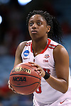 21 March 2015: Ohio State's Kelsey Mitchell. The Ohio State University Buckeyes played the James Madison University Dukes at Carmichael Arena in Chapel Hill, North Carolina in a 2014-15 NCAA Division I Women's Basketball Tournament first round game.