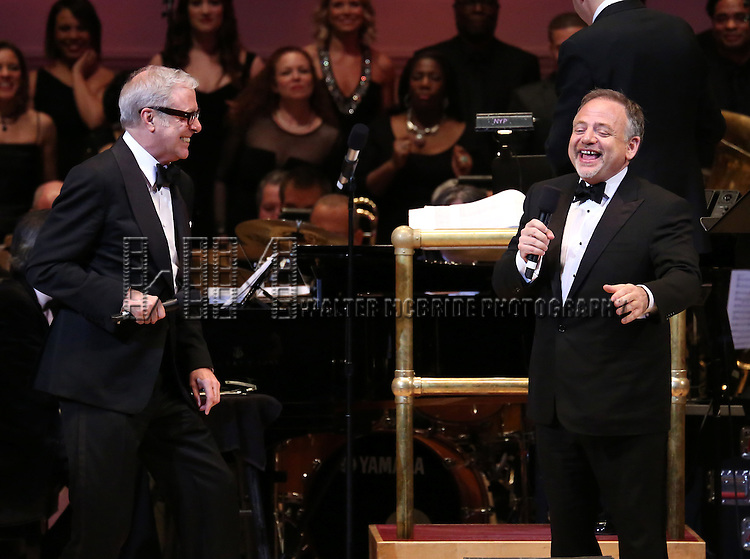 Scott Wittman and Marc Shaiman performs during The New York Pops 31st Birthday Gala at Carnegie Hall on April 28, 2014 in New York City.