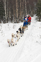 Tyrell Seavey w/Iditarider on Trail 2005 Iditarod Ceremonial Start near Campbell Airstrip Alaska SC