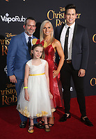 30 July 2018 - Burbank, California - Geoff Zanelli, Family. Disney's 'Christopher Robin' Los Angeles Premiere held at Walt Disney Studios. <br /> CAP/ADM/FS<br /> &copy;FS/ADM/Capital Pictures