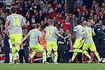 14.09.2017, Emirates Stadium, London, GER, Europa League, Arsenal London vs 1. FC Koeln, im Bild<br /> <br /> Torjubel zum 0:1 f&uuml;r Koeln<br /> <br /> <br /> Foto &copy; nordphoto / Treese