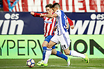 Atletico de Madrid's Fernando Torres (l) and Real Sociedad's Yuri Berchiche during La Liga match. April 4,2017. (ALTERPHOTOS/Acero)