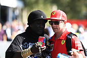 25th March 2018, Melbourne Grand Prix Circuit, Melbourne, Australia; Melbourne Formula One Grand Prix, race day; Scuderia Ferrari; Kimi Raikkonen