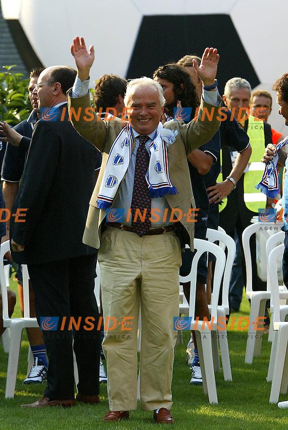 Genova 19/07/2003 <br /> Presentazione della Sampdoria<br /> Il presidente della Sampdoria Riccardo Garrone <br /> foto andrea Staccioli Insidefoto