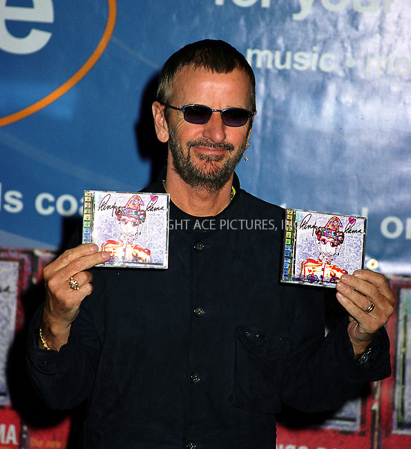 "Ringo Starr promotes his latest album ""Ringorama"" at FYE store in New York. March 25, 2003. Mandatory byline: Jose Perez/NY Photo Press.   ..*PAY-PER-USE*      ....NY Photo Press:  ..phone (646) 267-6913;   ..e-mail: info@nyphotopress.com"
