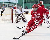 Charlie McAvoy (BU - 7) - The Boston University Terriers defeated the University of Massachusetts Minutemen 5-3 on Sunday, January 8, 2017, at Fenway Park in Boston, Massachusetts.The Boston University Terriers defeated the University of Massachusetts Minutemen 5-3 on Sunday, January 8, 2017, at Fenway Park.