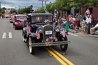 Black 1931 Model A classic car, Independence Day Parade 2016, Burien, Washington, USA.