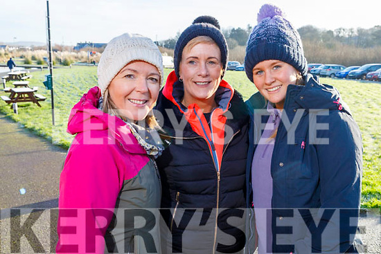 Mags Savage Bell (Tralee), Mary and Sarah Mahoney (Scartaglin) at the Operation Transformation for the National Walk Day in the Wetlands on Saturday.