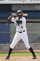 Tim Beckham of the Princeton Devil Rays at bat during a game against the Greeneville Astros in an Appalachian League game at Hunnicutt Field in Princeton, WV on July 20, 2008