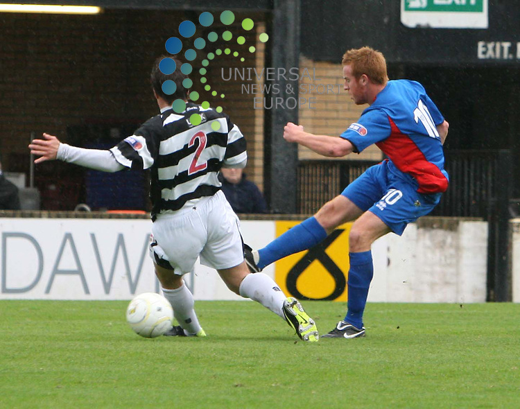 Adam Rooney scores for inverness during the Irn-Bru First Division match between Ayr Utd and Inverness CT at Somerset Park 24/10/09..Picture by Ricky Rae/universal News & Sport (Scotland).
