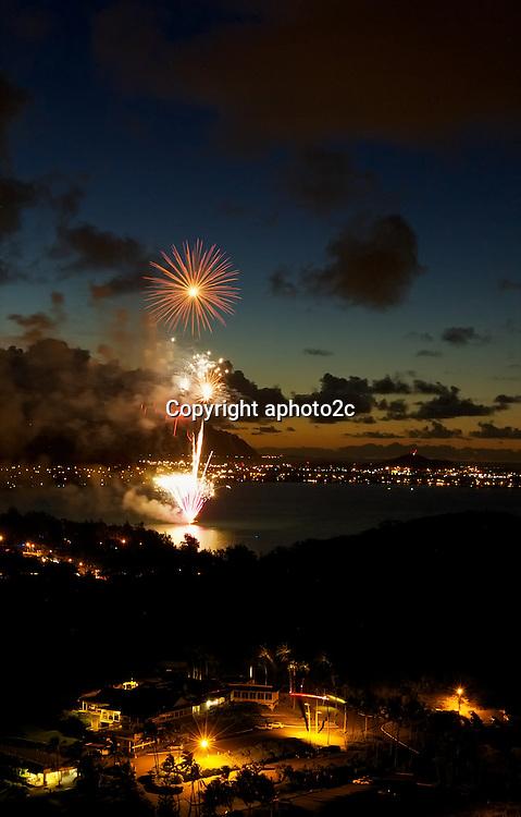 4th of July 2013 fireworks at Kailua Oahu
