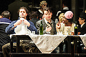 London, UK. 27.10.2014. Jonathan Miller's production, for English National Opera, of LA BOHEME, by Giacomo Puccini, opens at the London Coliseum. Rising star soprano, Angel Blue, makes her role debut as Mimi. Picture shows: George von Bergen (Marcello), David Butt Philip (Rodolfo) and Angel Blue (Mimi). Photograph © Jane Hobson.