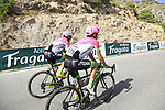 Daniel Moreno Fernandez (ESP) and Michael Woods (CAN) EF-Drapac-Cannondale on the slopes of Sierra de la Alfaguara  during Stage 4 of the La Vuelta 2018, running 162km from Velez-Malaga to Alfacar, Sierra de la Alfaguara, Andalucia, Spain. 28th August 2018.<br /> Picture: Eoin Clarke   Cyclefile<br /> <br /> <br /> All photos usage must carry mandatory copyright credit (&copy; Cyclefile   Eoin Clarke)