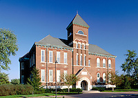 Former Maple Grove Garfield School, opened 1896, now headquarters of Arvin Industries Company. Columbus Indiana.
