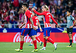 Antoine Griezmann of Atletico de Madrid celebrates during the La Liga 2017-18 match between Atletico de Madrid and Malaga CF at Wanda Metropolitano on 16 September 2017 in Madrid, Spain. Photo by Diego Gonzalez / Power Sport Images