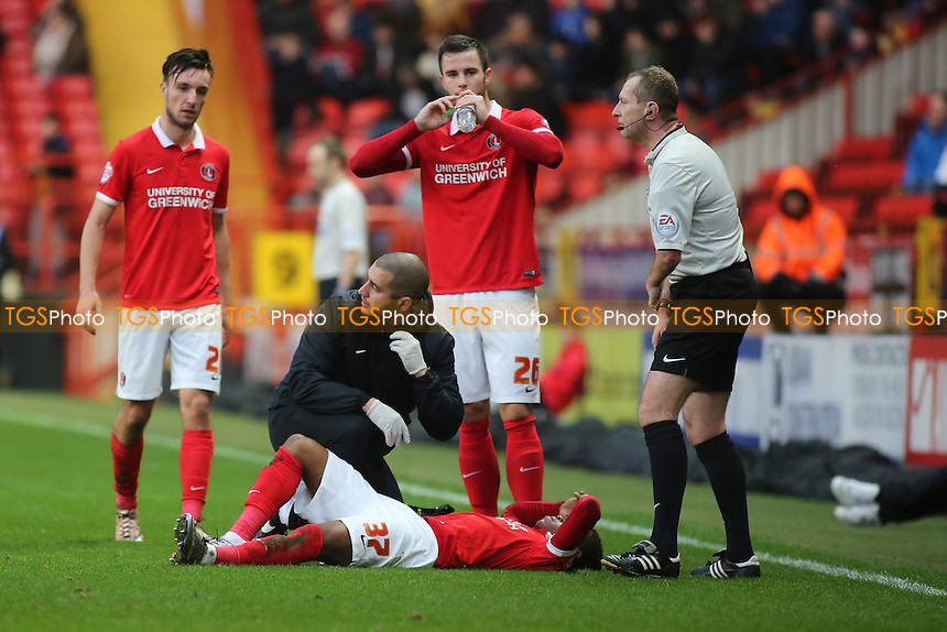 More injury woe for Charlton as Ademola Lookman was injured in the first half and took no further part in the game during Charlton Athletic vs Wolverhampton Wanderers, Sky Bet Championship Football at The Valley, London, England on 28/12/2015