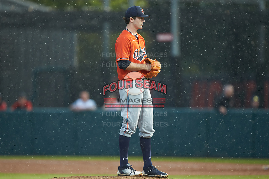 Auburn Tigers starting pitcher Casey Mize (32) looks to his catcher for the sign against the Army Black Knights at Doak Field at Dail Park on June 2, 2018 in Raleigh, North Carolina. The Tigers defeated the Black Knights 12-1. (Brian Westerholt/Four Seam Images)