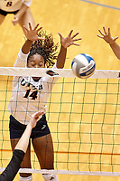 SAN ANTONIO, TX - SEPTEMBER 7, 2019: The University of Maryland Terrapins defeat the University of Texas at San Antonio Roadrunners 3-1 (19-25, 25-20, 25-22, 25-22) at the UTSA Convocation Center. (Photo by Jeff Huehn)