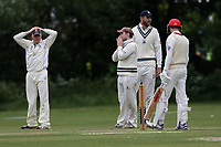 Billericay go close to a wicket during Hornchurch CC vs Billericay CC, Shepherd Neame Essex League Cricket at Harrow Lodge Park on 8th June 2019