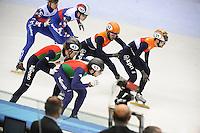 SHORT TRACK: TORINO: 15-01-2017, Palavela, ISU European Short Track Speed Skating Championships, Final Relay Men, Team Italy, Team Russia, Team Netherlands, ©photo Martin de Jong