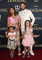 HOLLYWOOD, CA - JULY 9: Stephen Curry at The Lion King Film Premiere at El Capitan Theatre in Hollywood, California on July 9, 2019. <br /> CAP/MPIFS<br /> ©MPIFS/Capital Pictures