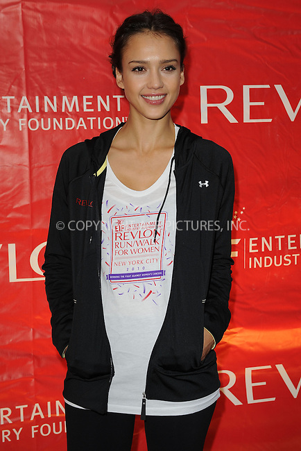 WWW.ACEPIXS.COM . . . . . ....May 1 2010, New York City....Actress Jessica Alba at the 13th Annual Entertainment Industry Foundation Revlon Run/Walk For Women in Times Square on May 1, 2010 in New York City....Please byline: KRISTIN CALLAHAN - ACEPIXS.COM.. . . . . . ..Ace Pictures, Inc:  ..(212) 243-8787 or (646) 679 0430..e-mail: picturedesk@acepixs.com..web: http://www.acepixs.com