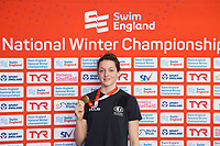 Picture by Allan McKenzie/SWpix.com - 15/12/2017 - Swimming - Swim England Winter Championships - Ponds Forge International Sports Centre, Sheffield, England - Sophie Yendall with gold from the womens 50m butterfly.