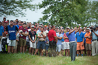 Tiger Woods escapes the thick stuff on the 1st during the opening round of the US PGA Championship at Valhalla (Photo: Anthony Powter) Picture: Anthony Powter / www.golffile.ie