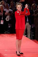 Sharon Stone wearing the Red Cross t-shirt<br /> Roma 02/12/2018. Palazzo dei Congressi. L'attrice Sharon Stone riceve la croce d'oro al merito dalla Croce Rossa Italiana durante il Jump 2018.<br /> Rome July 30th 2018. Actress Sharon Stone receives the Gold Medal of Merit from Italian Red Cross during the event Jump 2018.<br /> Foto Samantha Zucchi Insidefoto