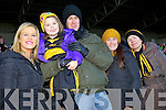 Charlene Kilroy with Annie, Ciarán, Eimear and Bridie Brosnan, Dr Crokes fans, pictured at the All Ireland semi-final on Saturday.