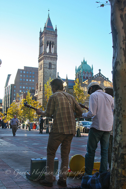 Buskers playing in Copley Plaza area, Boston, MA